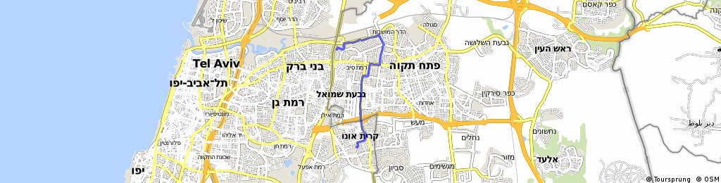 Brief bike tour from Petah Tikva to Kiryat-Ono