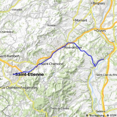 St Etienne to Ampuis