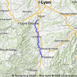 Ampuis to Valence