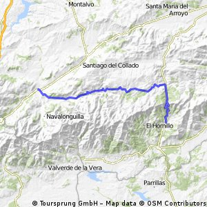 8 0 Mombeltran-El Barco de Avila  75 km