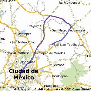 Cd. de México-Teotihuacán vía Pachuca