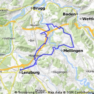 Heitersberg - Hüehnersteg - Birrfeld