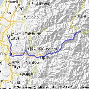 Central Cross: Guanyuan-關原 to Taichung-台中