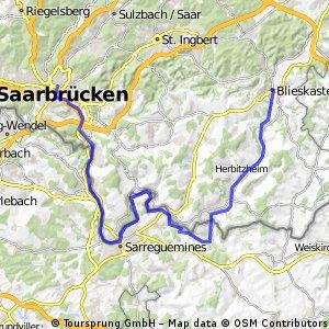 27_Saarbrücken – Sarreguemines (F) – Bliesbruck – Blieskastel