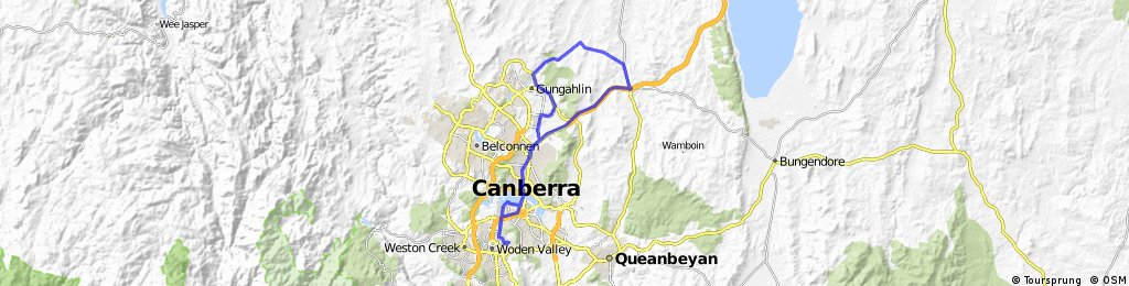 Long ride through Garran