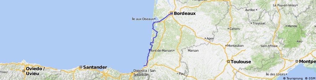 bordeaux - bayonne
