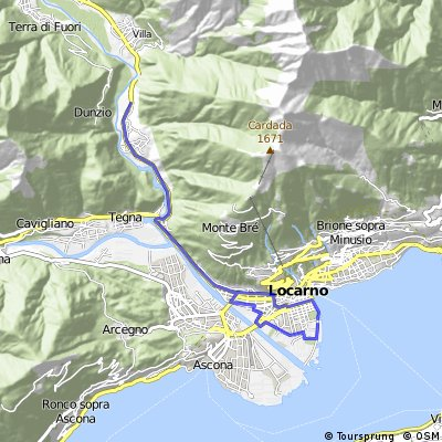 Cycling routes and bike maps in and around Locarno Bikemap Your