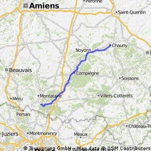 Fat man on Tour 2016 France: Chauny - Chantilly 86 km