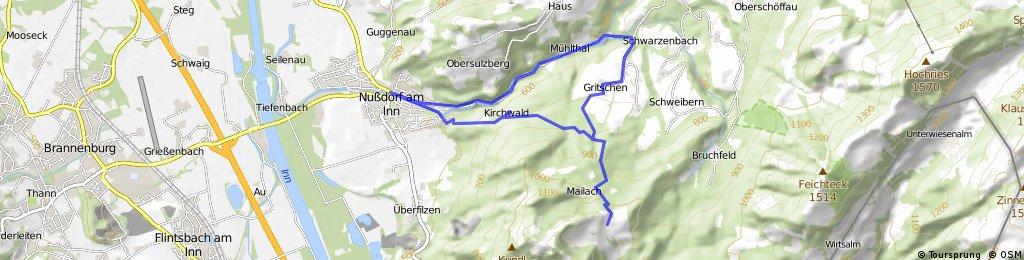 Wanderung von Nussdorf zur Daffnerwaldalm