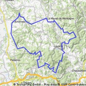Montagne Bourbonnaise  au départ de Mariol - la Loge des Gardes