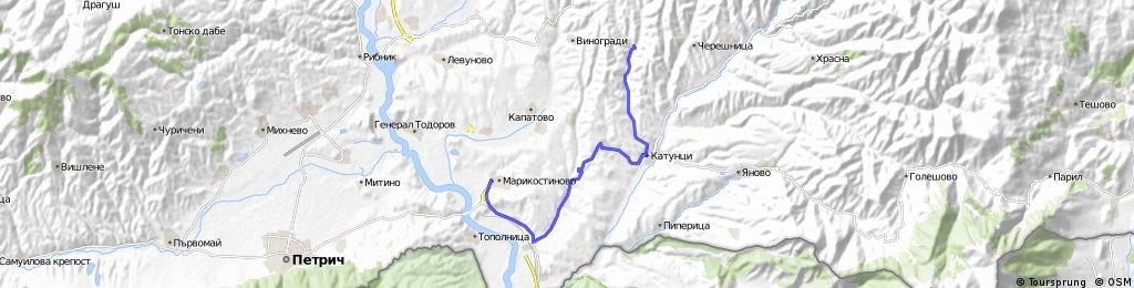 Марикостиново-Чучулигово-Долно Спанчево-Враня-Катунци-Златолист