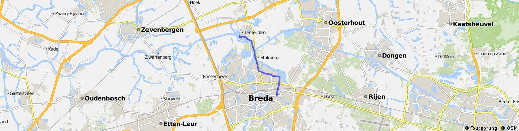 Short bike tour from Terheijden to Breda