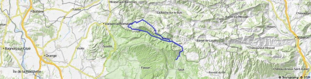 Aurel Gorges de Toulourenc Mollans Col de Fontaube Aurel