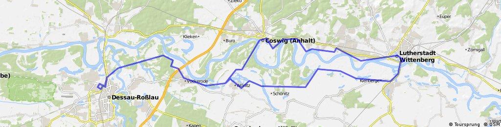 Dessau - Wittenberg mit Elbe-Radweg