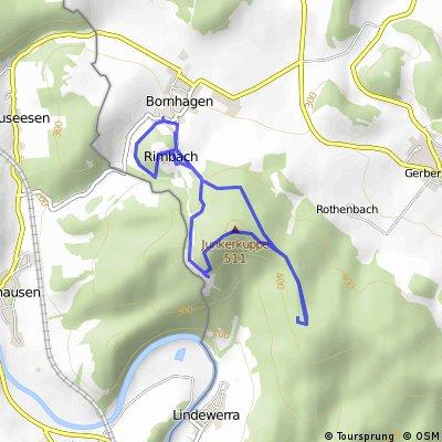 Bornhagen - Burgruine Hanstein - Teufelskanzel