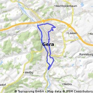 Erste Radtour 2016 Stadtrundfahrt Gera