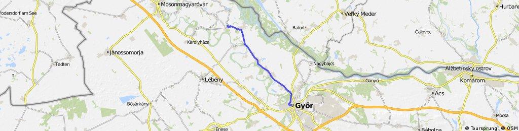 Hedervar to Gyor