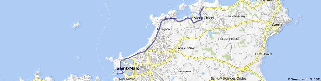 St Malo Ferry to La Haute Marette