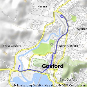 Cycling routes and bike maps in and around Gosford Bikemap Your