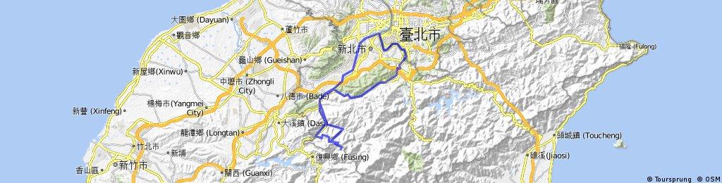 寶藏巖 - 安坑 -東眼山 - 土城河濱 -寶藏巖