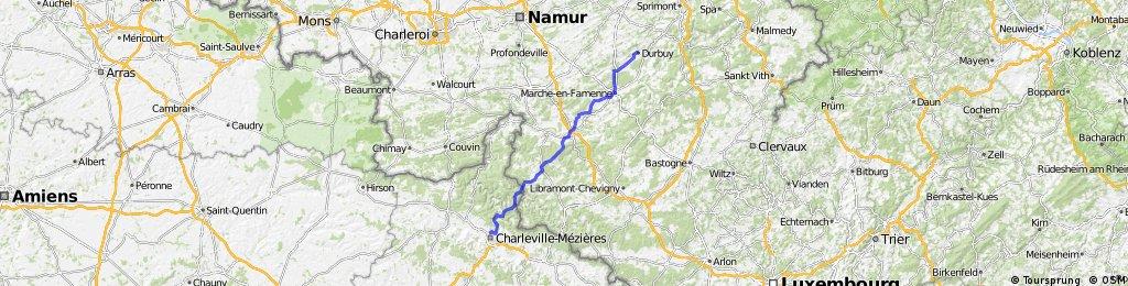 2. Etappe Durbuy - Charlevilee-Mezieres ca. 102 km 19.06.