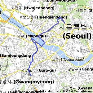 bike tour from Seodaemun-gu to Gurogu