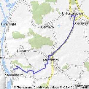 Stammheim - Unterspiesheim Route 17.3.2016