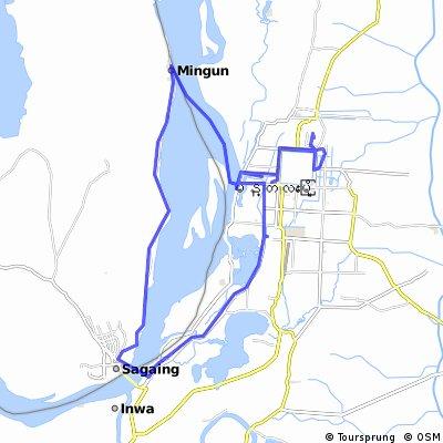 Lengthy bike tour through Aungmyaythazan