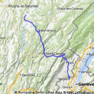 Cycling routes and bike maps in and around Meyrin Bikemap Your