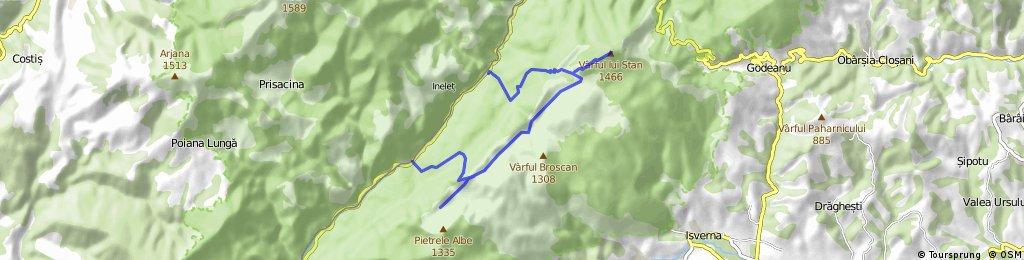 Km 21 Valea Cernei - Poiana Belentina - Varful lui Stan - Crovul Medved - Km 16 HIKING