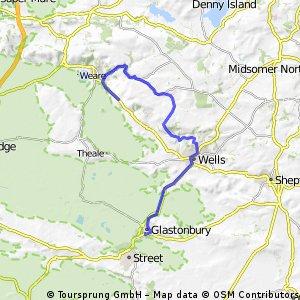 Glastonbury to Cheddar via Deers leap