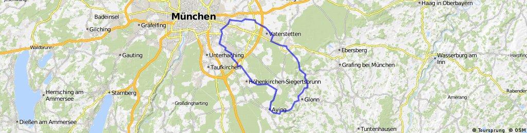 Trudering - Vaterstetten - Glonn - Aying - Siegertsbrunn
