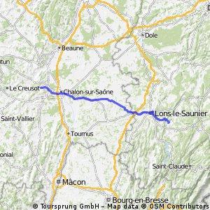 Day2: Blye (Lons Le Saulnier) - Saint Jean de Vaux (Chalon sur Saône)
