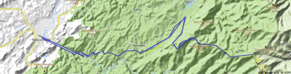 Lengthy ride through Tellico Plains