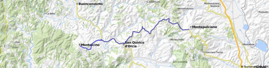 Montalcino to Montepulciano