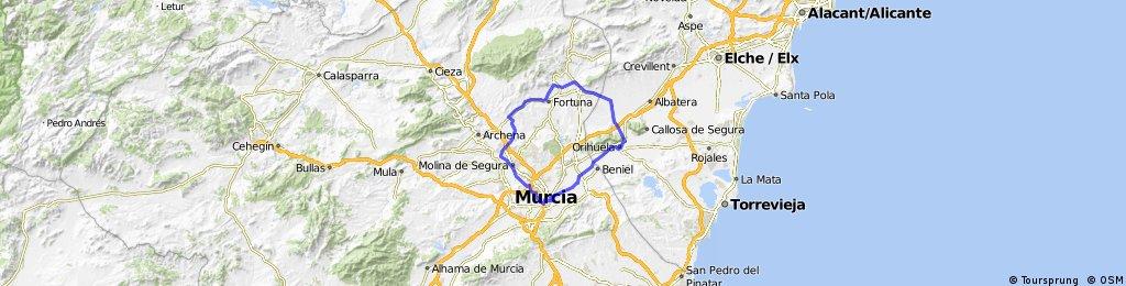 Nº3 Orihuela, La Murada, Abanilla, Baños, Fortuna, Fenazar, Molina,Via Verde, Universidad Titoabuelito