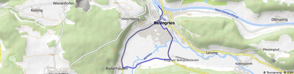 Radstrecke Triathlon Beilngries 2016