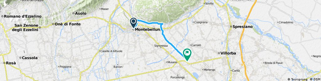 I. Bike Tour from Montebelluna to Ponzano Veneto