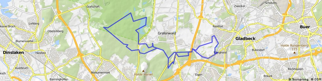 Rotbach Trail mit Heidesee