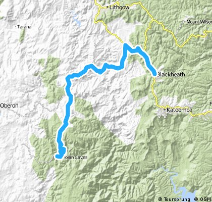 Blackheath to Jenolan caves
