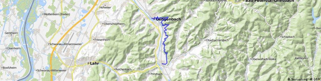 7-Täler-Weg Gengenbach nach Biberach