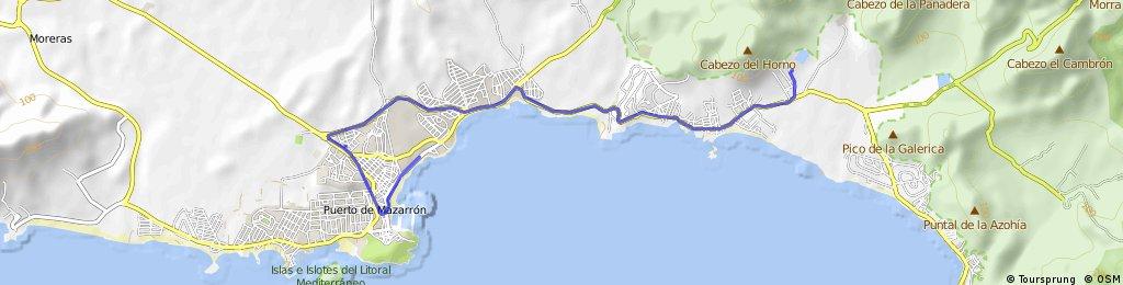 bike tour from Puerto de Mazarrón to Cartagena