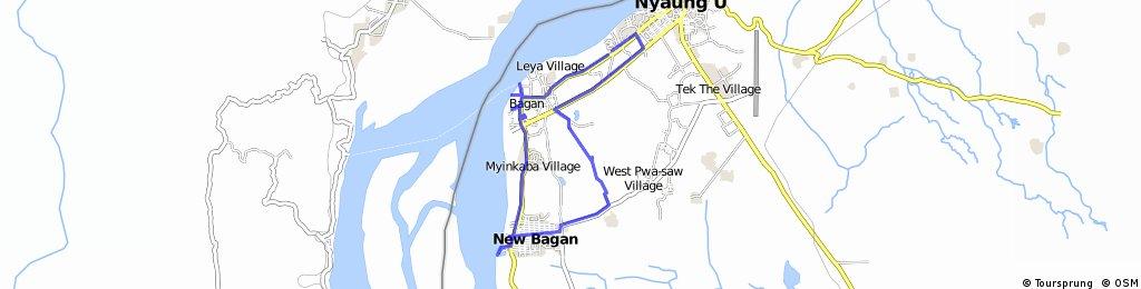 bike tour through Nyaung-U