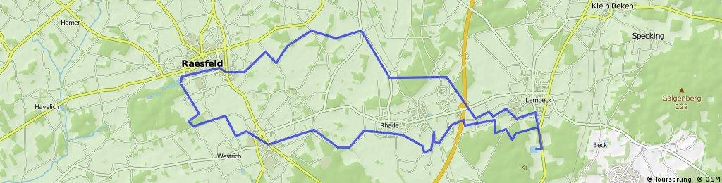 Schloss Raesfeld - Schloss Lembeck - 36 km