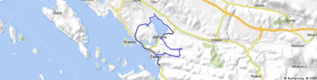 ride through Šibenik