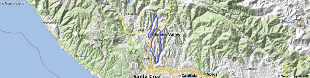 ride through Scotts Valley