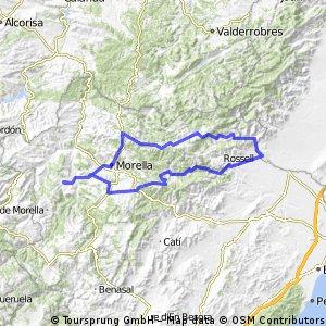 Cinctorres-La Senia-Castell de Cabres-Morella-Cinctorres