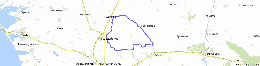 Урожайное-Кырк-Азис-Новожиловка
