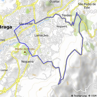 Cycling routes and bike maps in and around Braga Bikemap Your