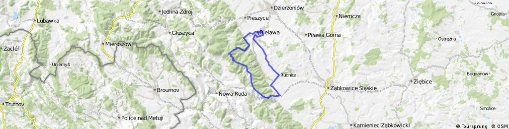 Long bike tour through Bielawa - Srebrna Góra.